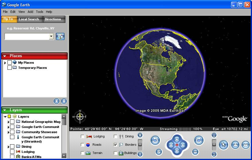 Компания Google расширила возможности электронного атласа Google Earth, доб